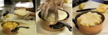 Assembling the Apple Tart Tartin