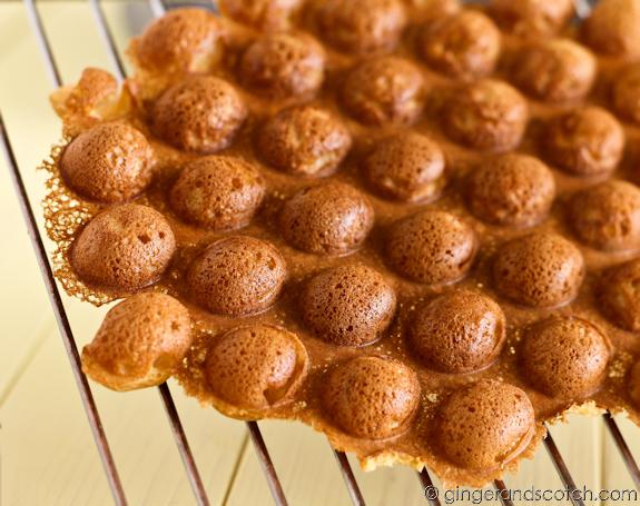 Hong Kong Egg Waffles aka Hong Kong Egg Puffs or Hong Kong Eggettes