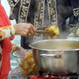 Removing the chicken pieces before adding the rice