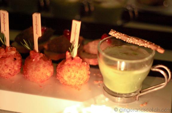 Feta and Olive Stuffed Polenta Marbles