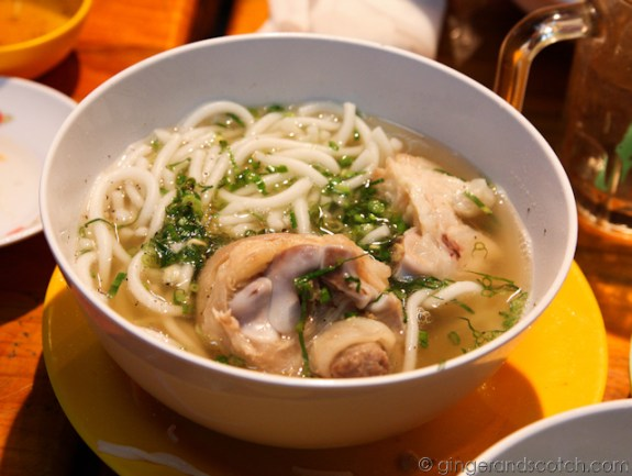 Noodle soup with pig's feet