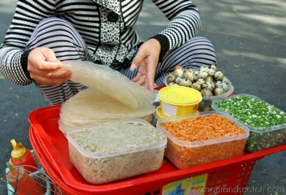 Bánh Tráng Taco Ingredients