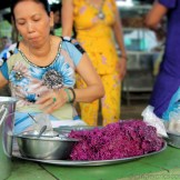 Mekong Sweets Vendor Selling Sweet Purple Sticky Rice