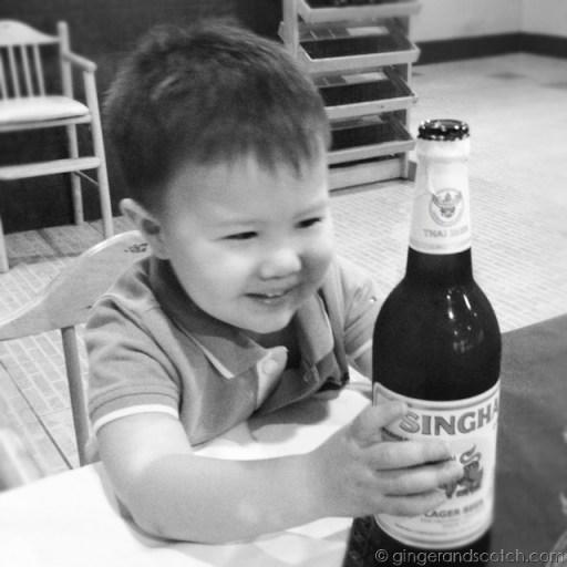 Large Singha Beer