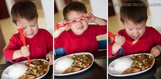 Eating Stir-fry