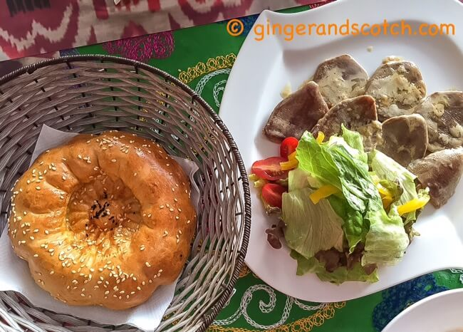 Uzbek Bread and Beef Tongue