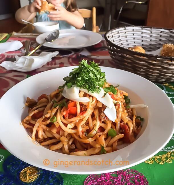Fried Lagman (homemade noodles)
