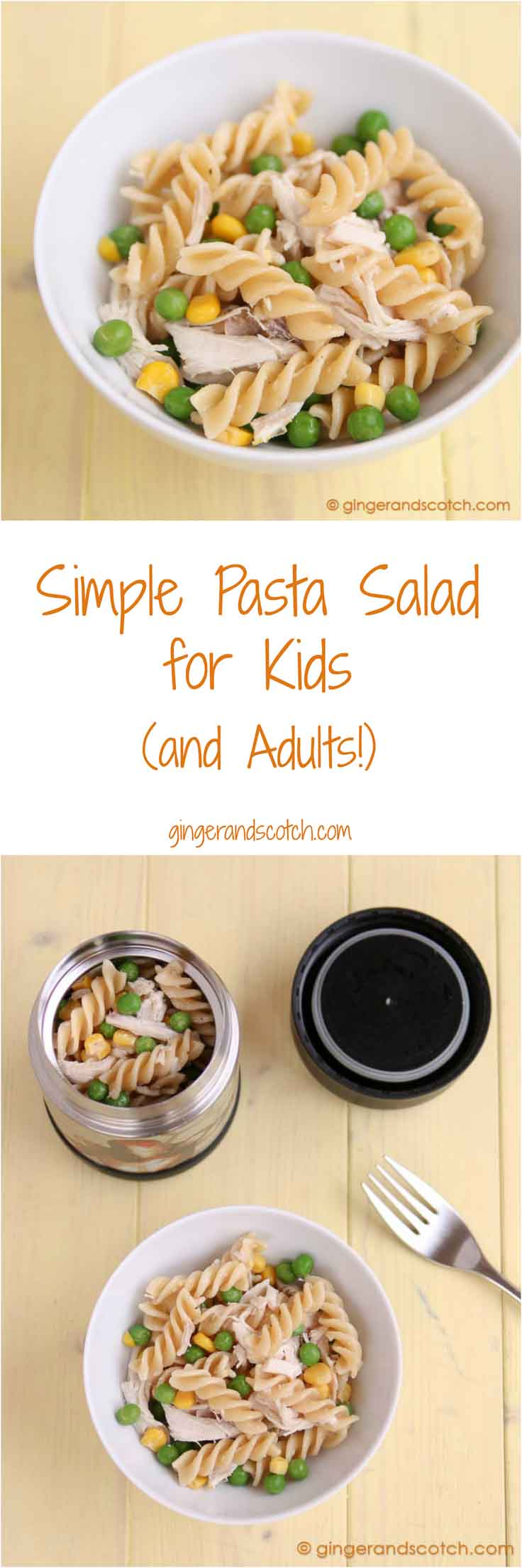 Simple Pasta Salad for Kids ( …and Adults)