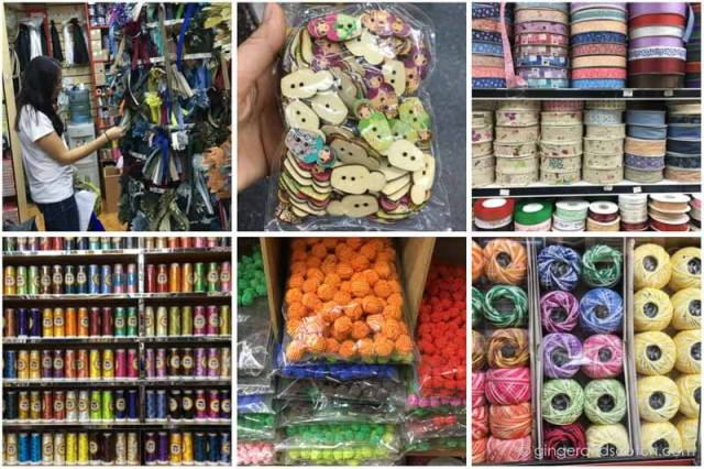 Haberdashery shops in the Naif area of Deira, Dubai