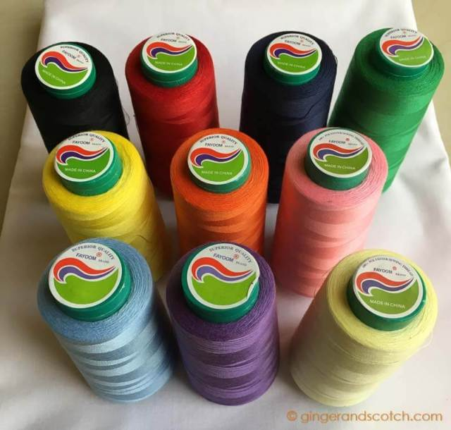 Assorted Rolls of Thread Bought at the Haberdashery Souk in Naif, Deira (Dubai)