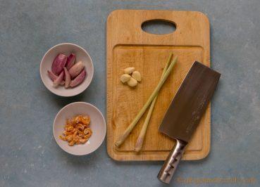 Vietnamese Mi Bo Sate Ingredients