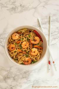 Homemade Chinese Egg Noodles for Shrimp Lo Mein