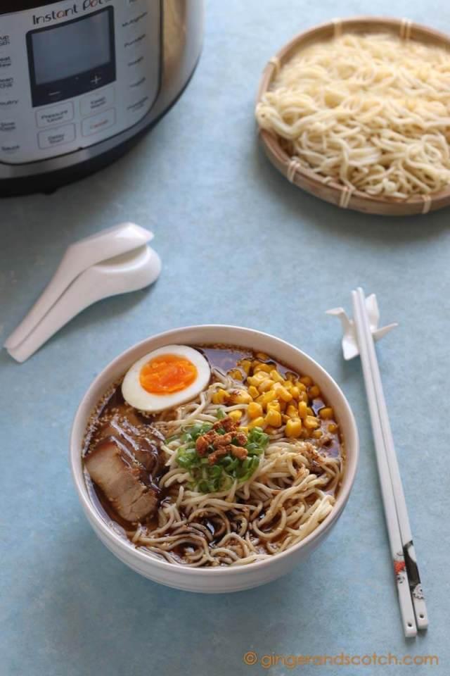 Tonkotsu Shoyu Ramen with Homemade Ramen Noodles
