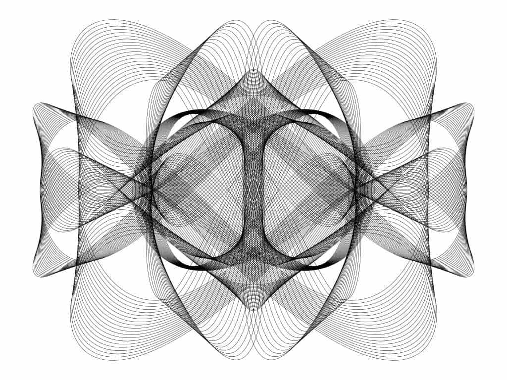 spiral loops drawing like using Spirograph