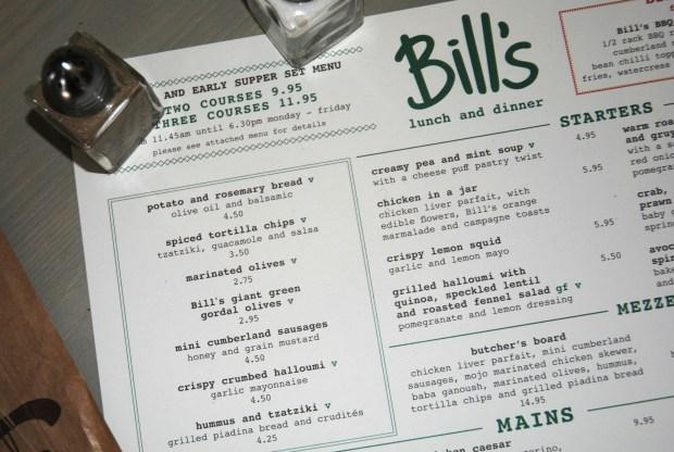 Bills-Restaurant-Liverpool-Menu