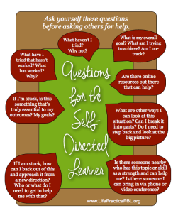 Self Directed Learners, Questions, PBL