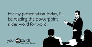bad presentation PBL