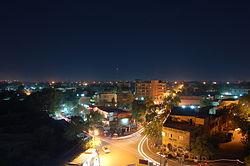 Niamey at night