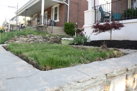 removed crab grass along the edges
