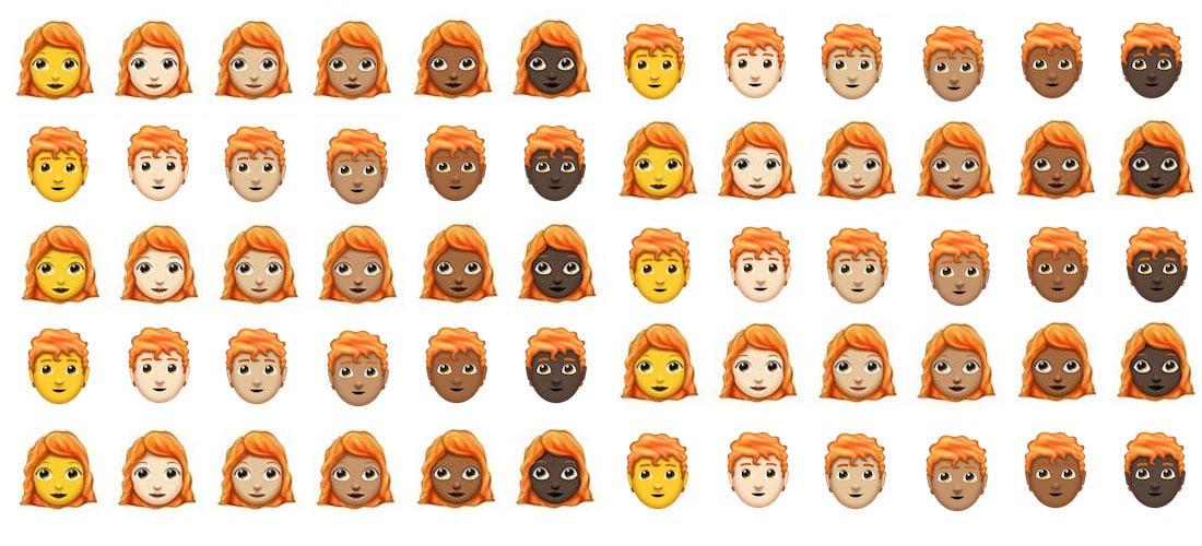 Sneak Peek Of New Ginger Emojis Coming 2018 Ginger Parrot