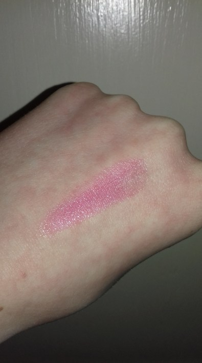Swatch of the lip balm