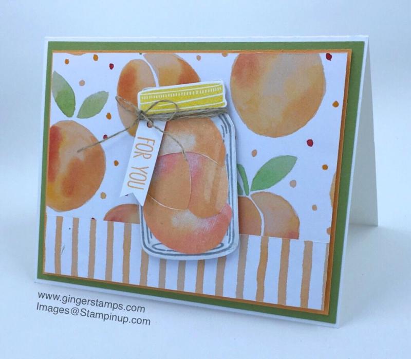 A Ginger Snap! Fresh Fruit & A Fresh Card!