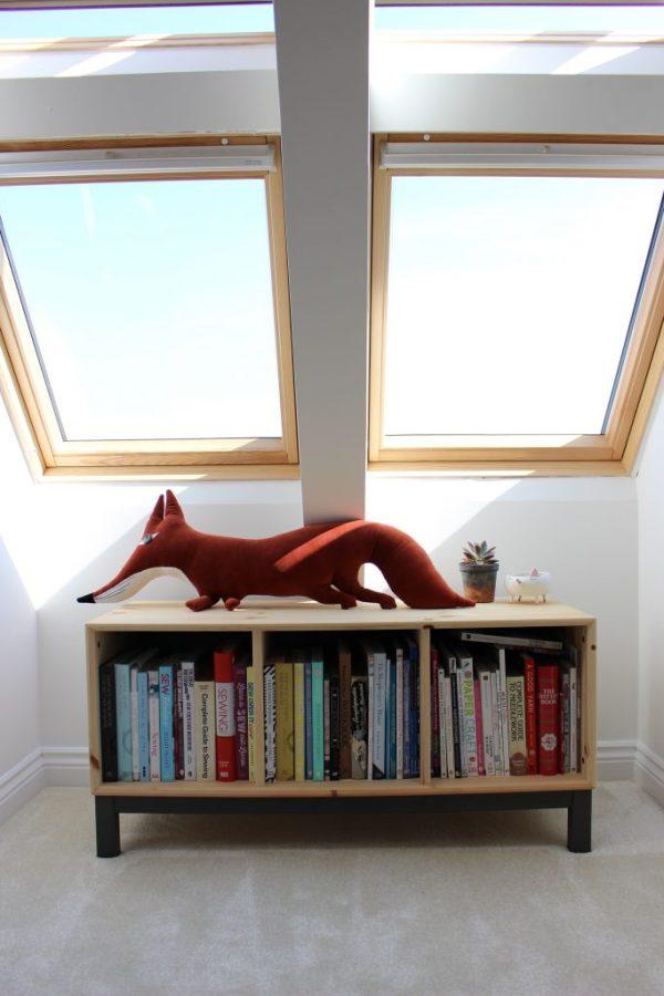 Cushion - Souvenir Gallery, Storage Unit - Ikea, Succulent in pot - Geo Fleur, Trinket dish - Anthropologie
