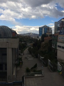 View towards the mountains in La Paz