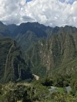 View over the Urubamba River from Machu Picchu