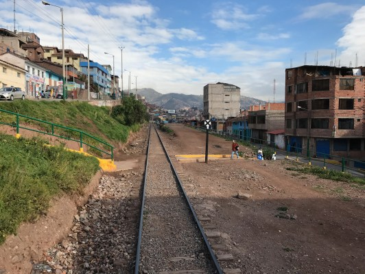 View towards Cusco from the Andean Explorer train