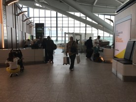 Security at the first wing in terminal 5