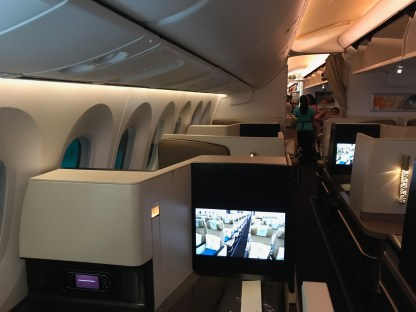 Etihad 787-9 Business Studio looking rearwards