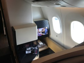 Etihad 787-9 Business Studio looking forwads