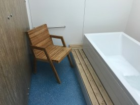 British Airways Arrivals lounge seating area and infinity bath