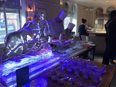 Fortnum and Mason Ice sculptures