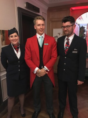 Fortnum and Mason and British Airways Ambassador team