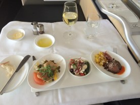 Lufthansa First Class starter selection