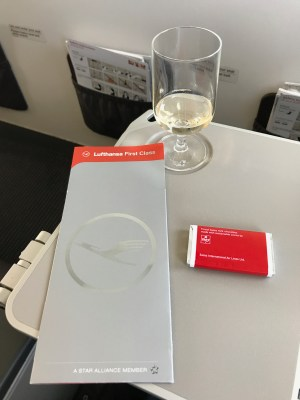 Lufthansa first class boarding pass jacket