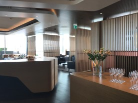 Swiss First Class Lounge at Zurich bar area