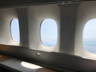 Swiss 777-300 first class view out of the window