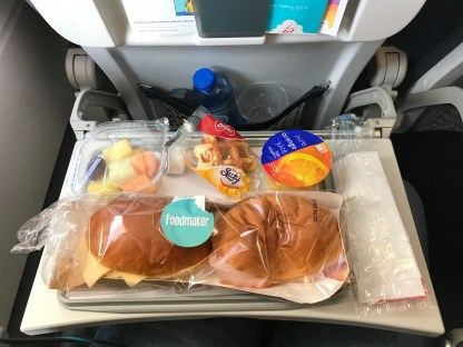 Brussels Airlines in-flight catering economy class breakfast
