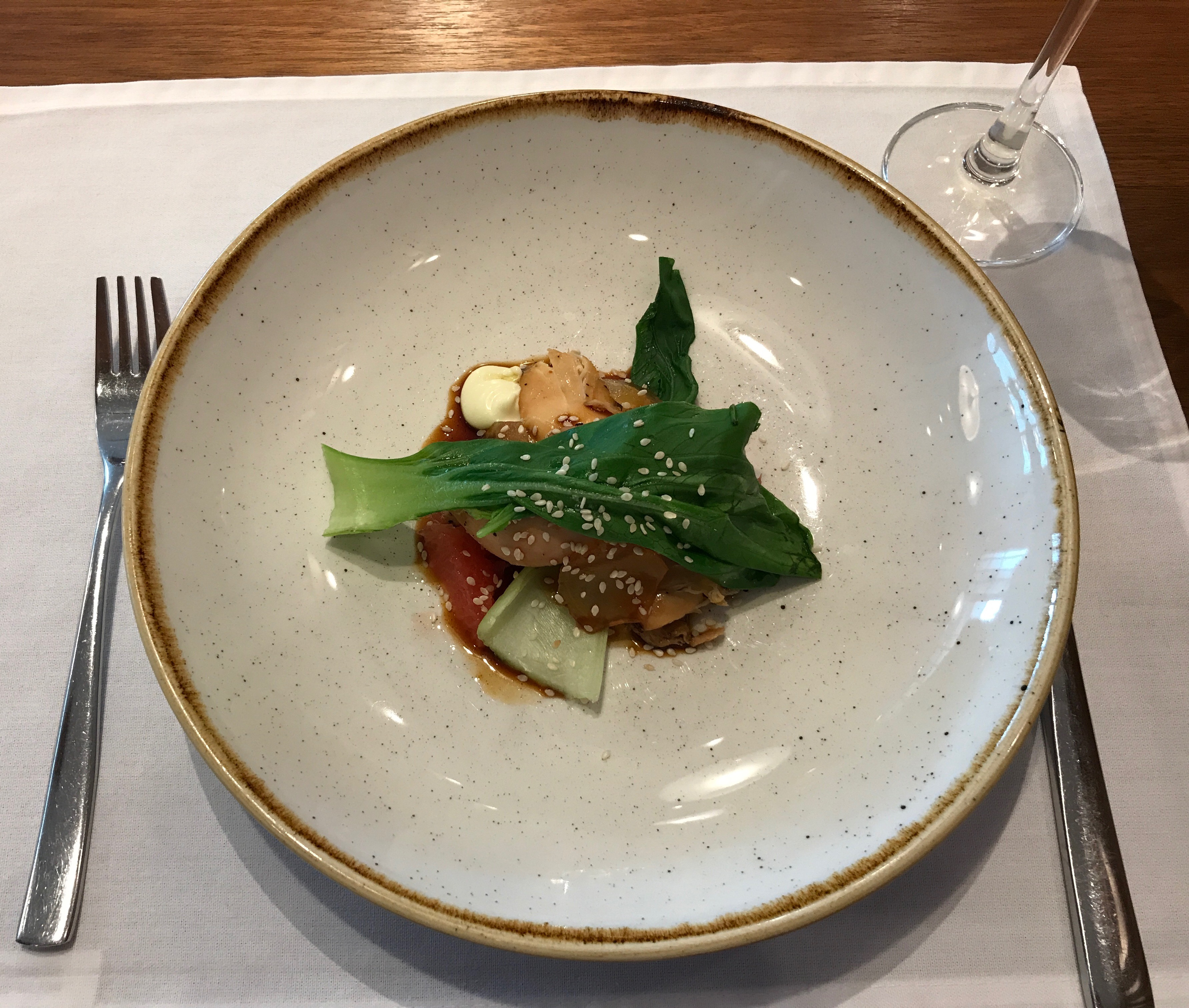 cathay pacific chicken salad
