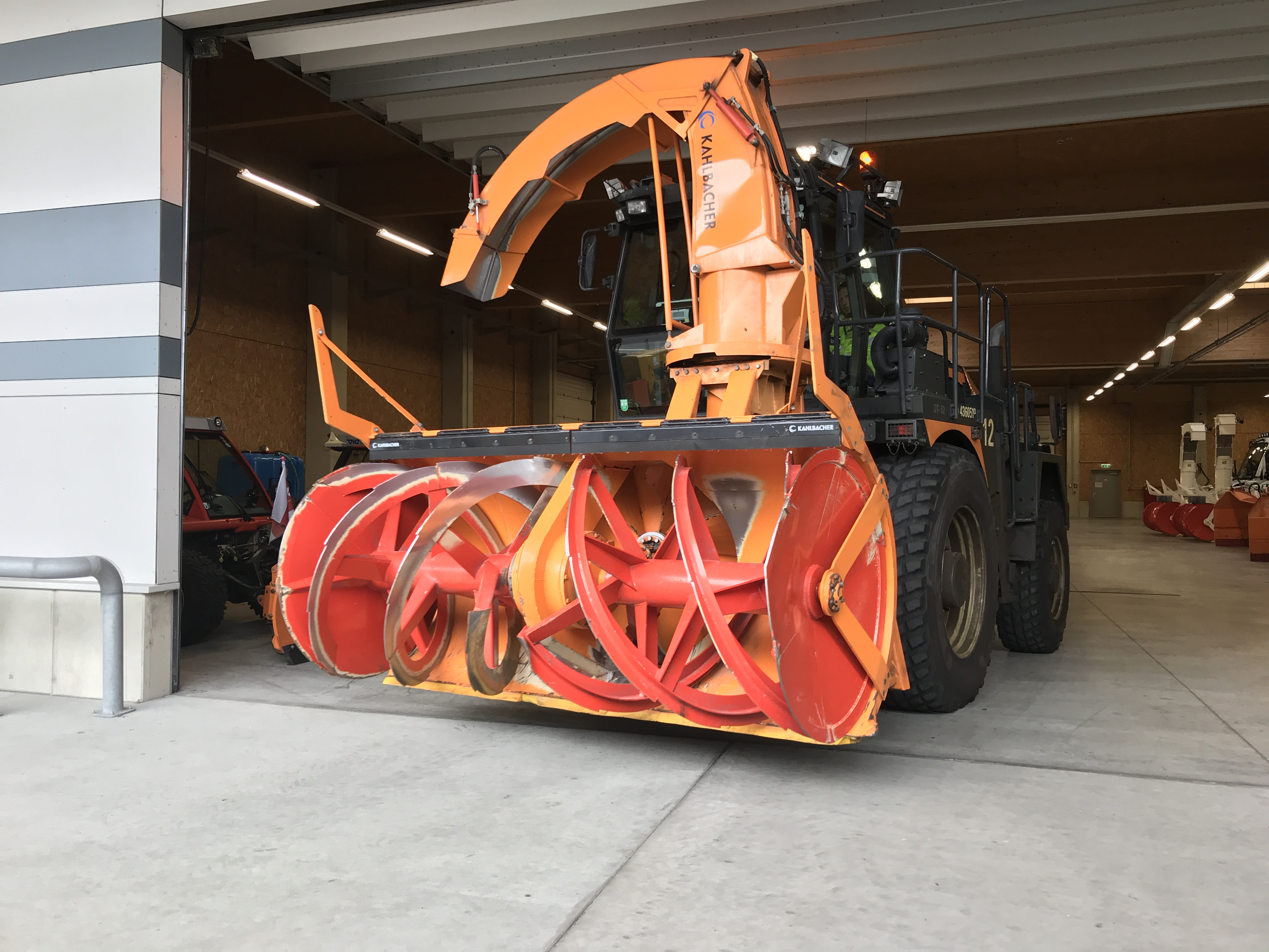 fearsome looking snow clearing machine at Vienna airport