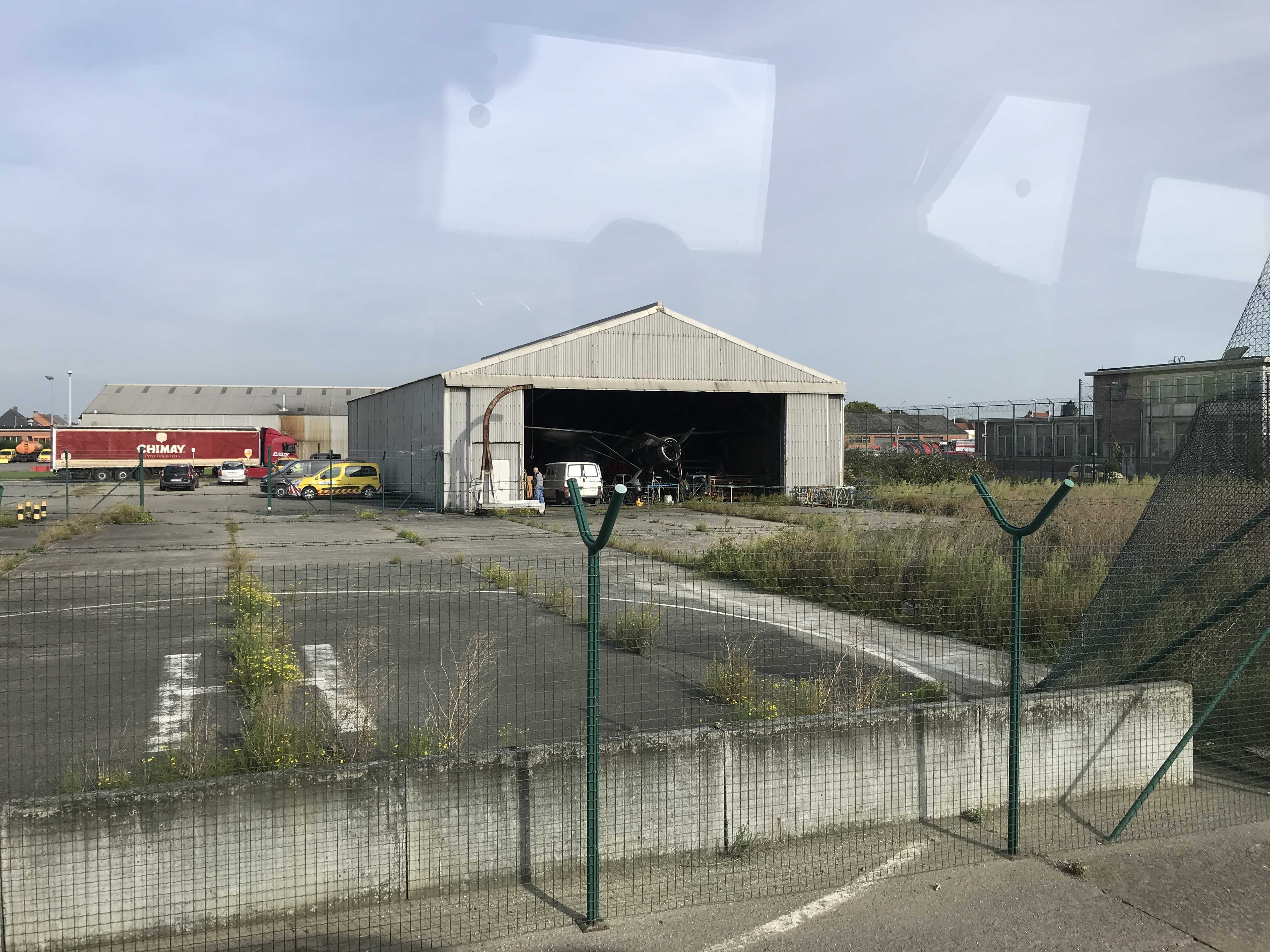 Old hangar at Brussels Airport