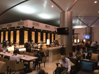 Vietnam airlines business class lounge bar