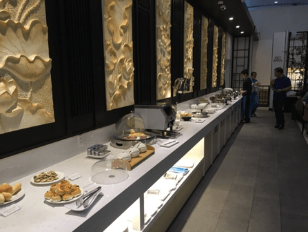 Vietnam airlines business class lounge food selection
