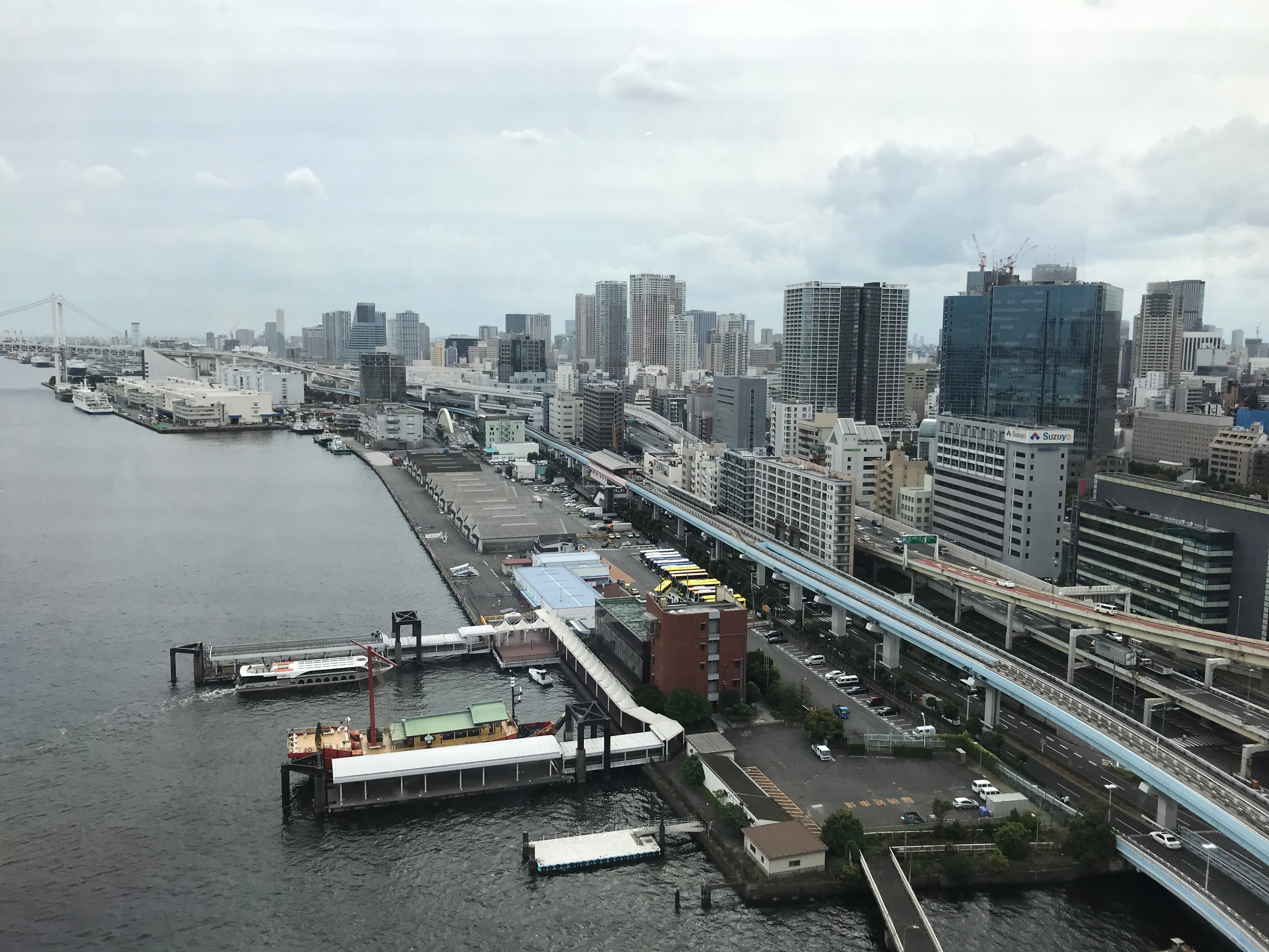 Intercontinental Tokyo Bay view from the club lounge