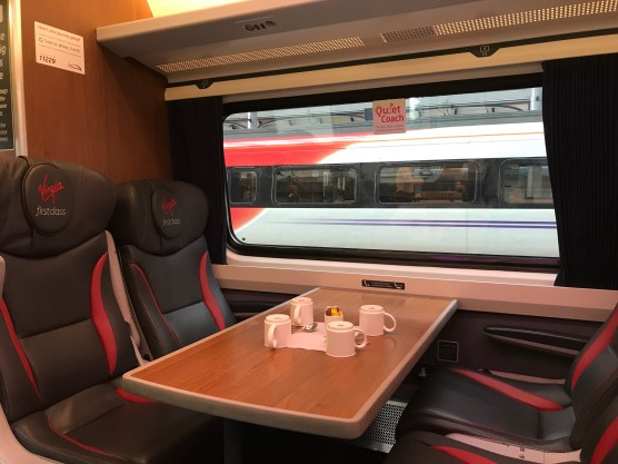 Virgin Trains East Coast Mark IV First Class table