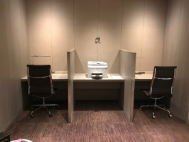 JAL First Class lounge Haneda business centre