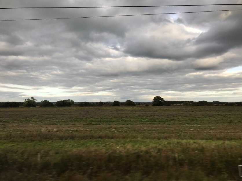 View from the East Coast Mainline north of York